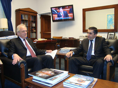 ԱՄՆ Ներկայացուցիչների պալատի արտաքին հարաբերությունների հանձնաժողովի նախագահ Բերմանի հետ